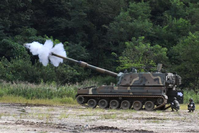 해병대2사단 포22대대 K9 자주포 사격훈련.jpg