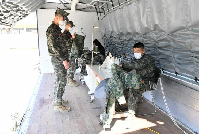 해병대 군수단, 1사단 피복·비품 등 수리.jpg