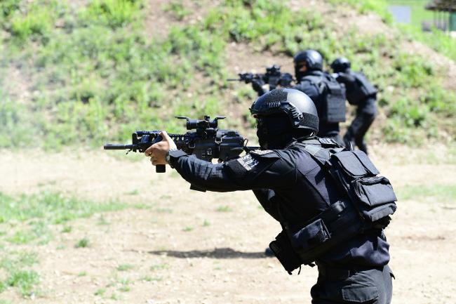해병대2사단 군사경찰대 특임소대 대테러 사격훈련.jpg