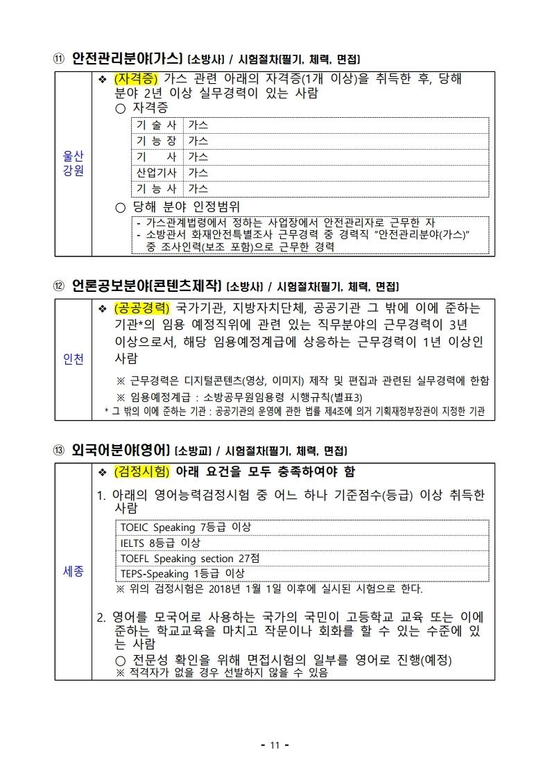 파일 2) 경력경쟁채용 응시자격 및 경력요건.pdf_page_11.jpg