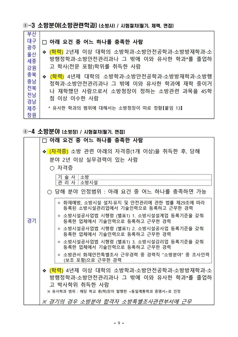 파일 2) 경력경쟁채용 응시자격 및 경력요건.pdf_page_09.jpg