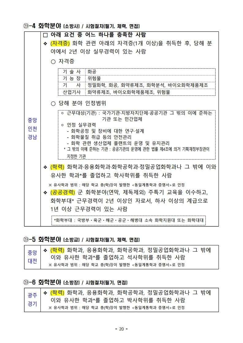 파일 2) 경력경쟁채용 응시자격 및 경력요건.pdf_page_20.jpg