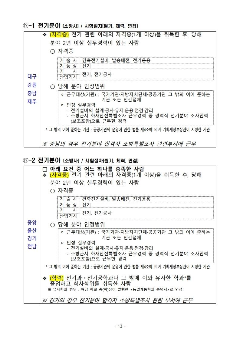 파일 2) 경력경쟁채용 응시자격 및 경력요건.pdf_page_13.jpg