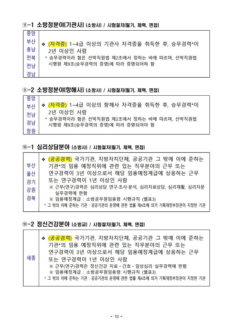 파일 2) 경력경쟁채용 응시자격 및 경력요건.pdf_page_10.jpg