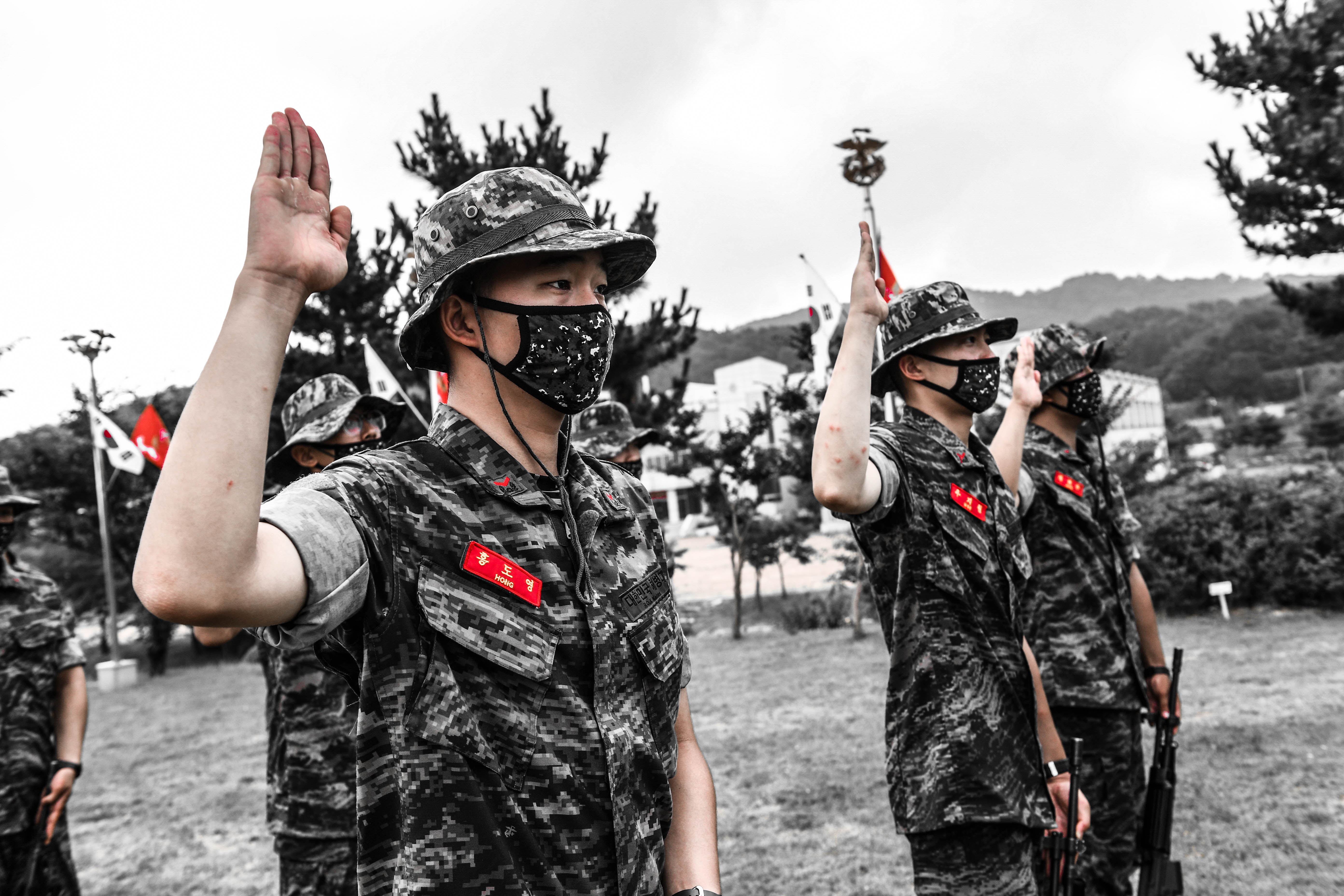 해병대 부사관후보생 390기 빨간명찰수여식 11.jpg