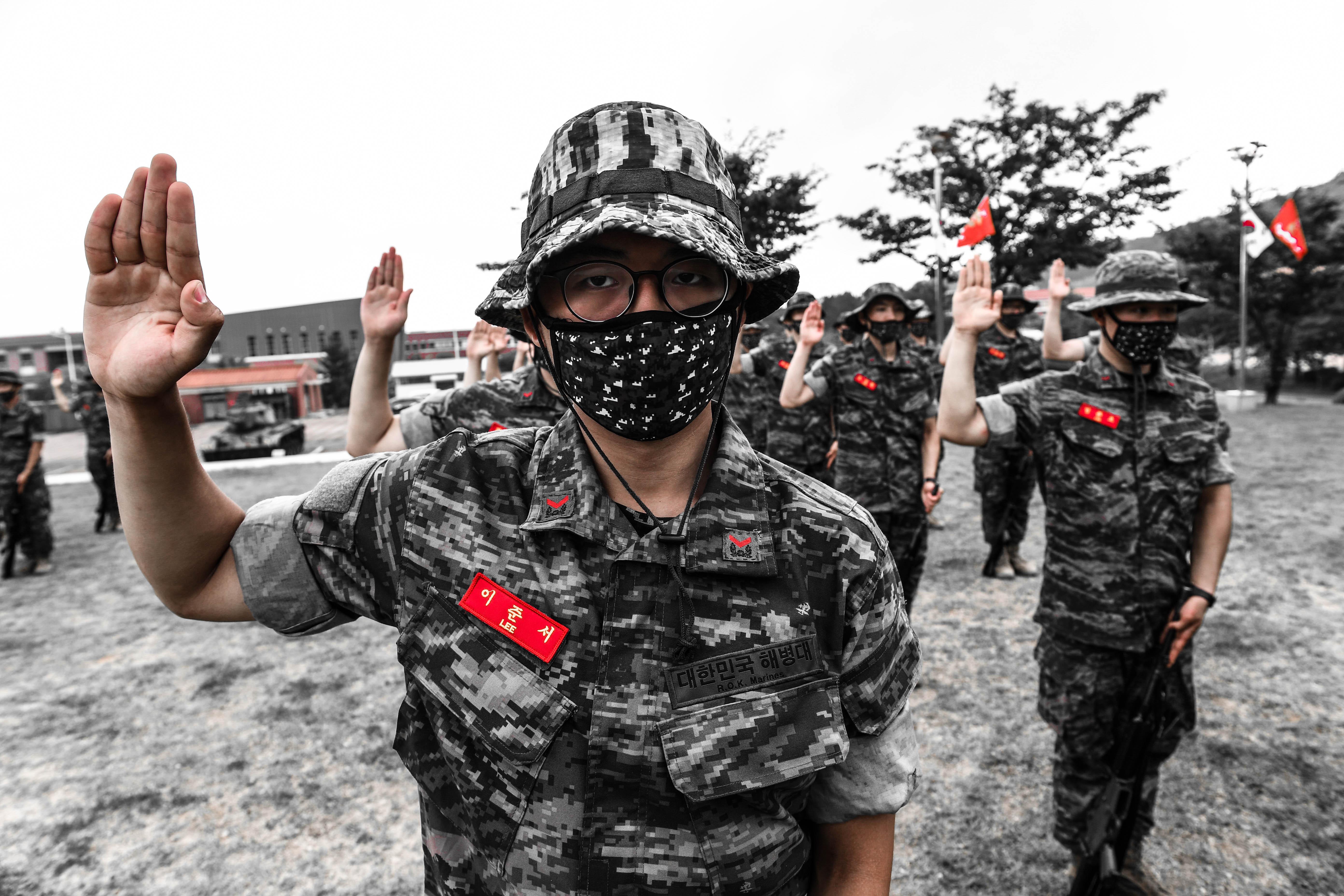 해병대 부사관후보생 390기 빨간명찰수여식 12.jpg