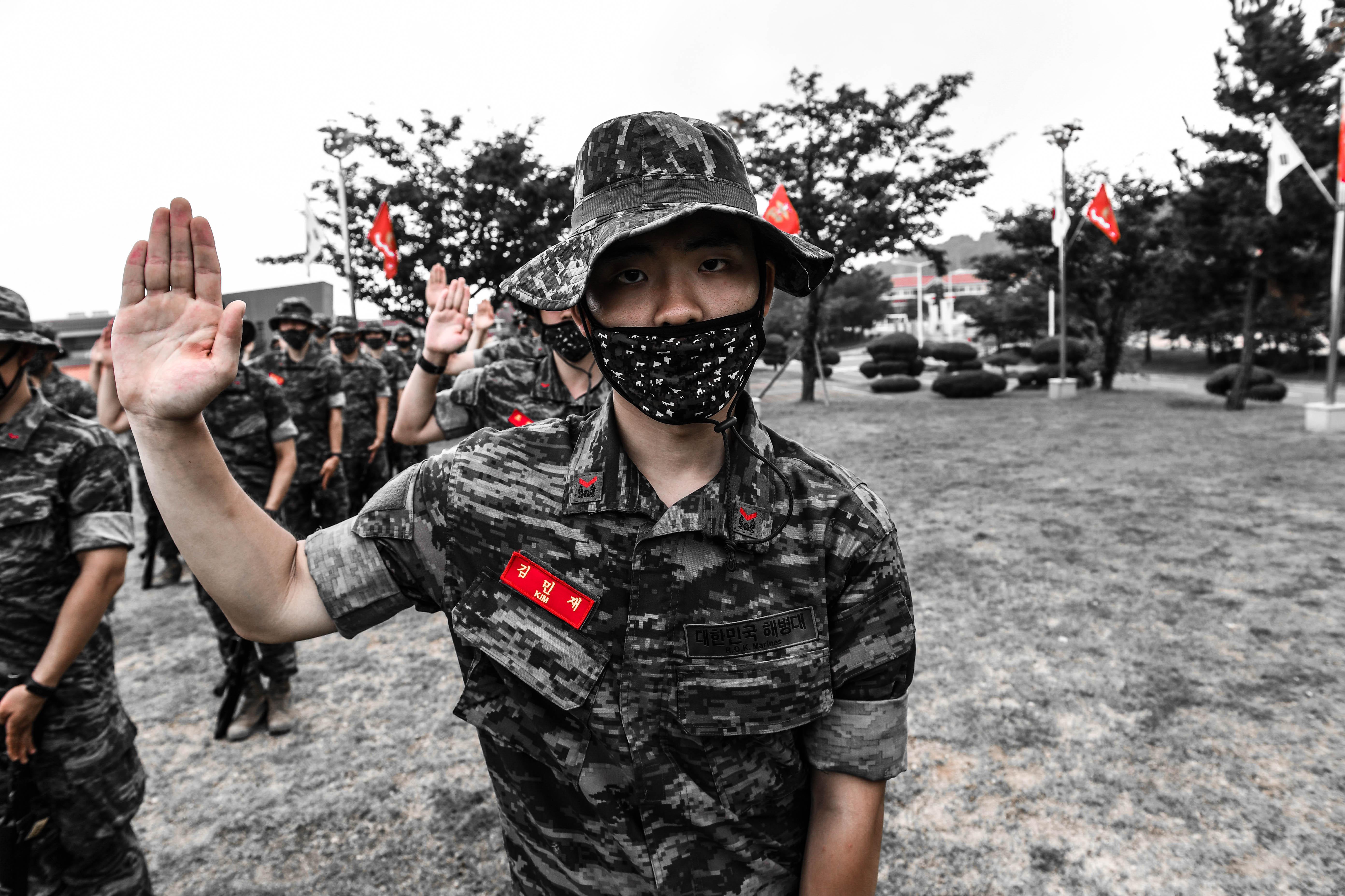 해병대 부사관후보생 390기 빨간명찰수여식 14.jpg