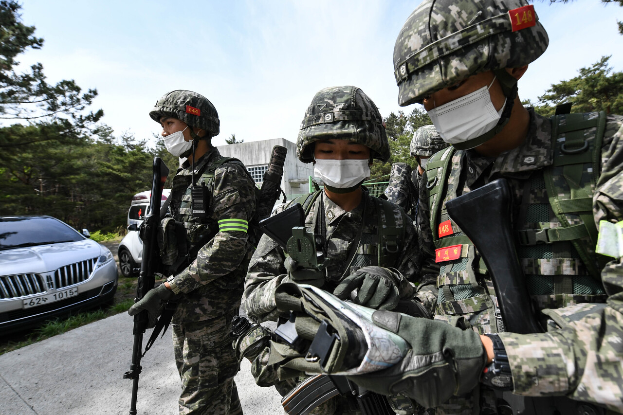 해병대 사관후보생 130기 독도법훈련 10.jpg